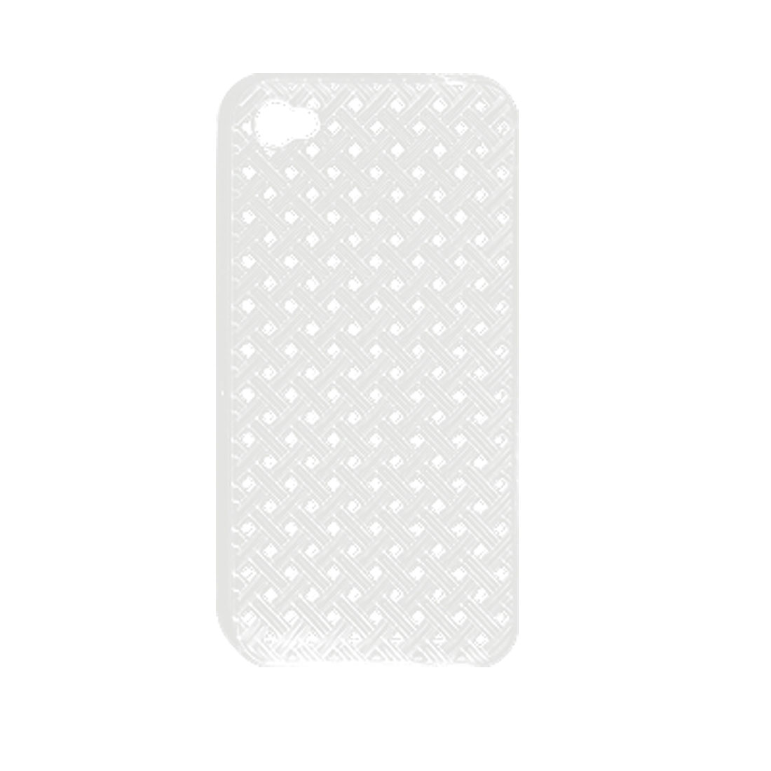 Clear Hollow Out Woven Pattern Soft Plastic Case Cover for iPhone 4 4G