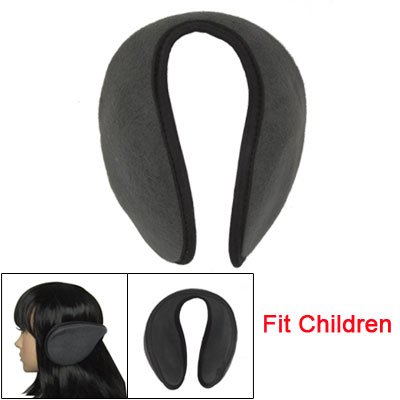 Children Headwear Metal Frame Slate Gray Fleece Ear Warmers Earmuffs