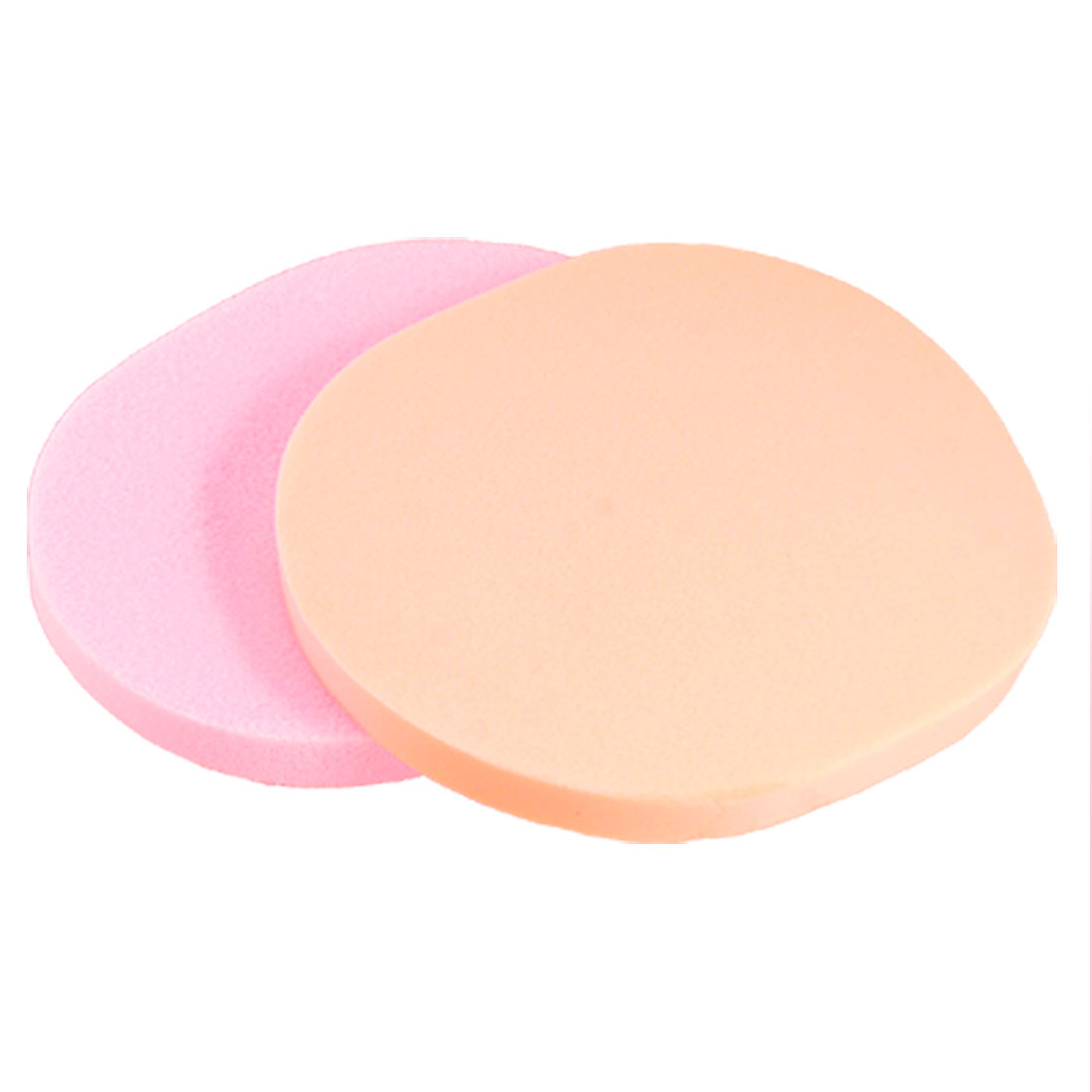 2 Pcs Makeup Washing Face Pure Color Sponge Powder Puff for Lady