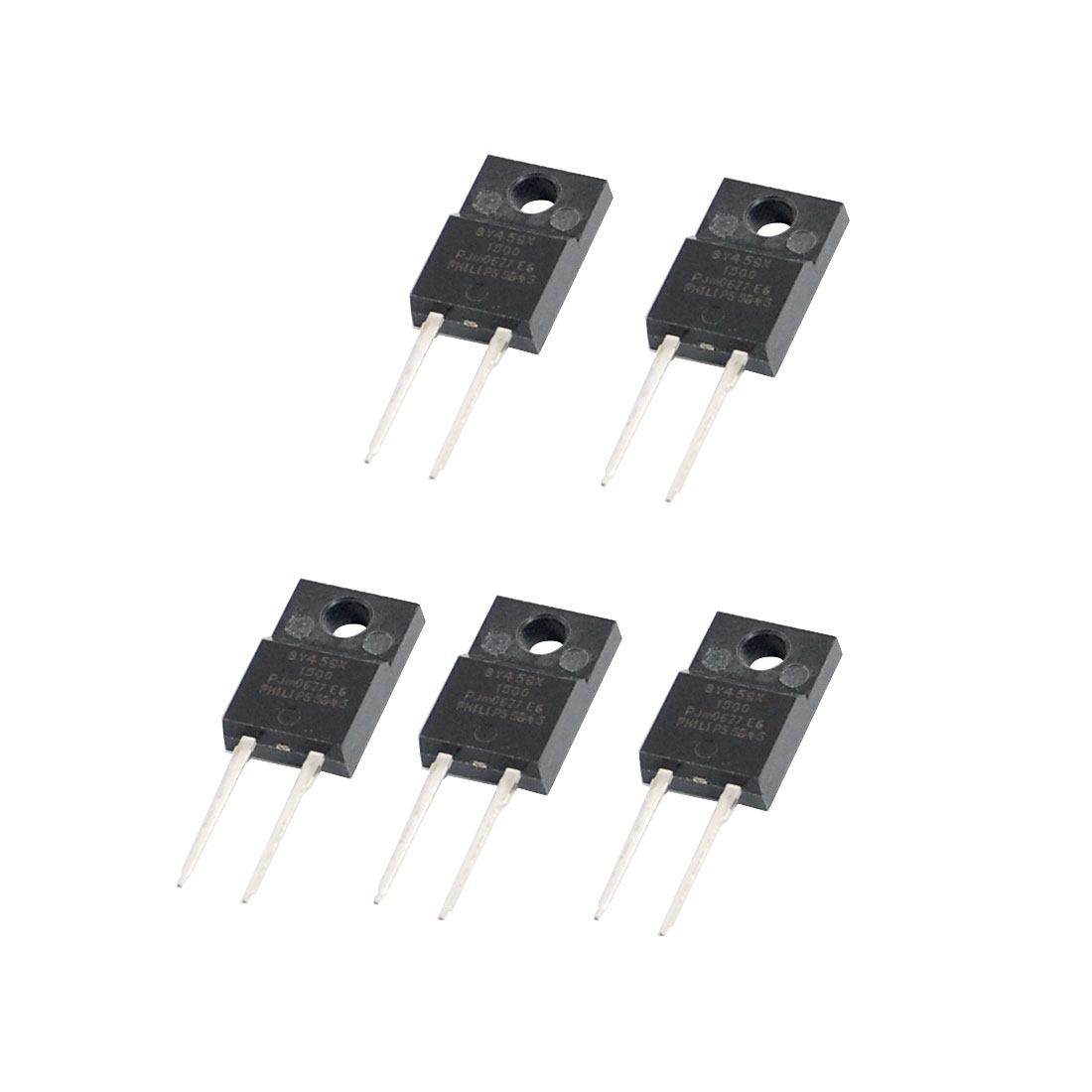 BY459X-1500 Type 2 Pin Terminals Damper Diodes 8A 1500V 5 Pcs