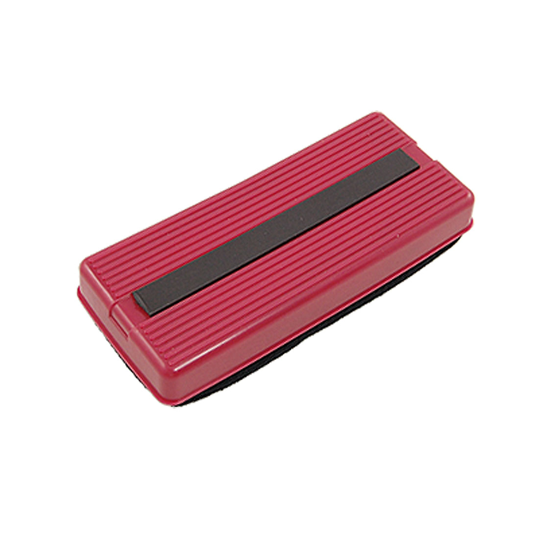 Rectangle Plastic Grip Magnetic Blackboard Eraser Red