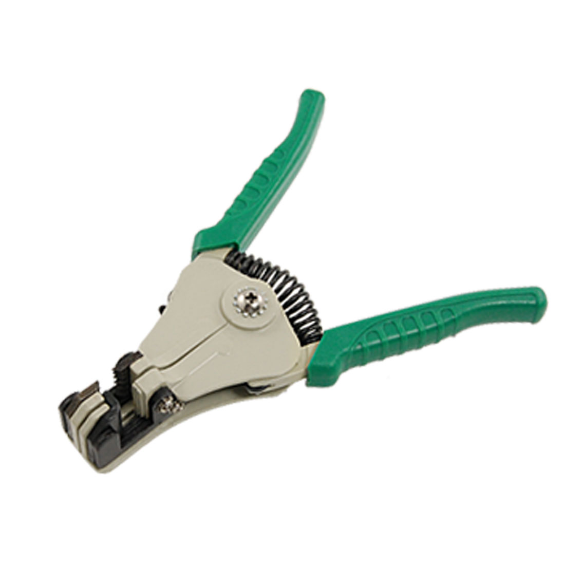 Green Nonslip Handle Spring Loaded Automatic Wire Stripper