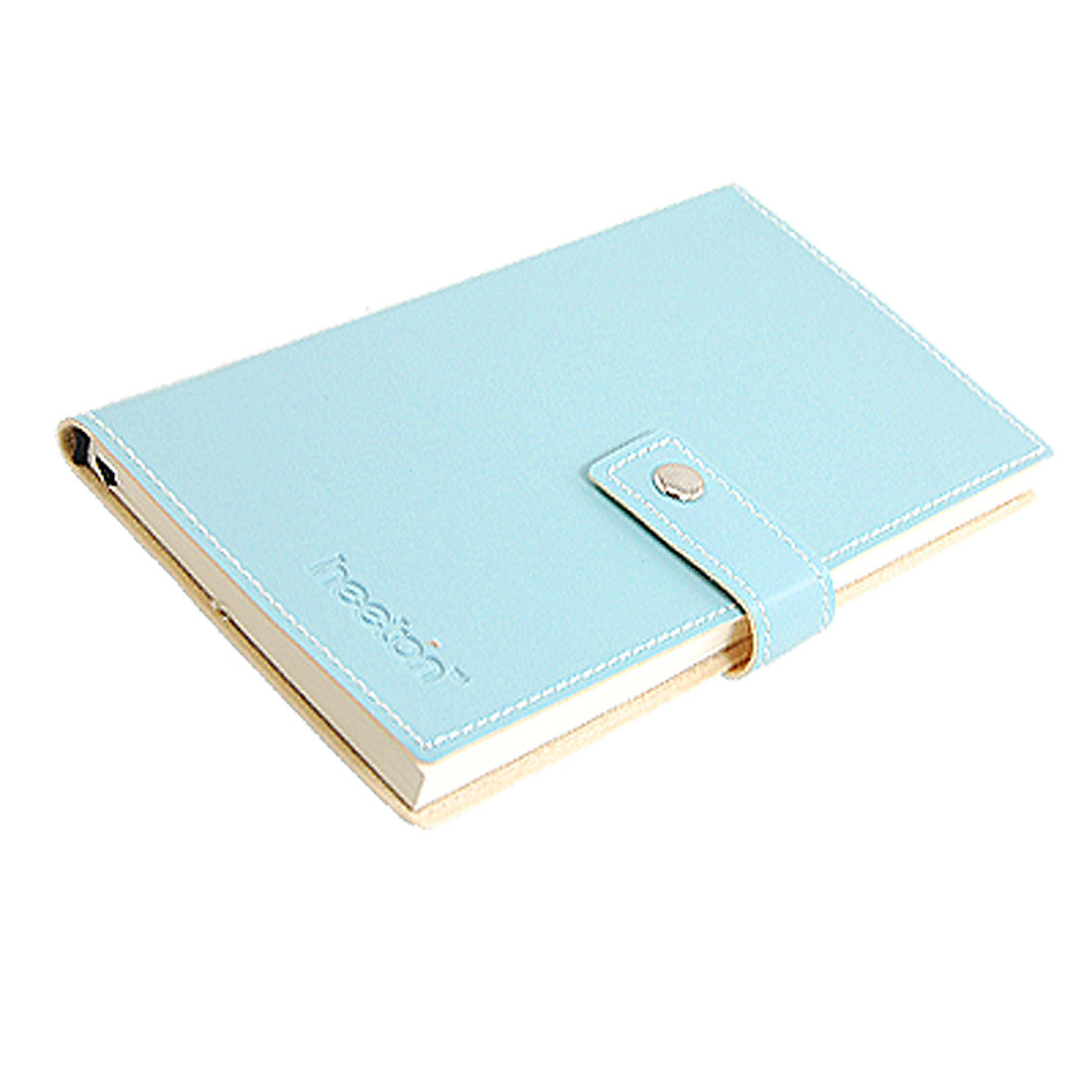 Light Blue Faux Leather Cover Businessman Notebook