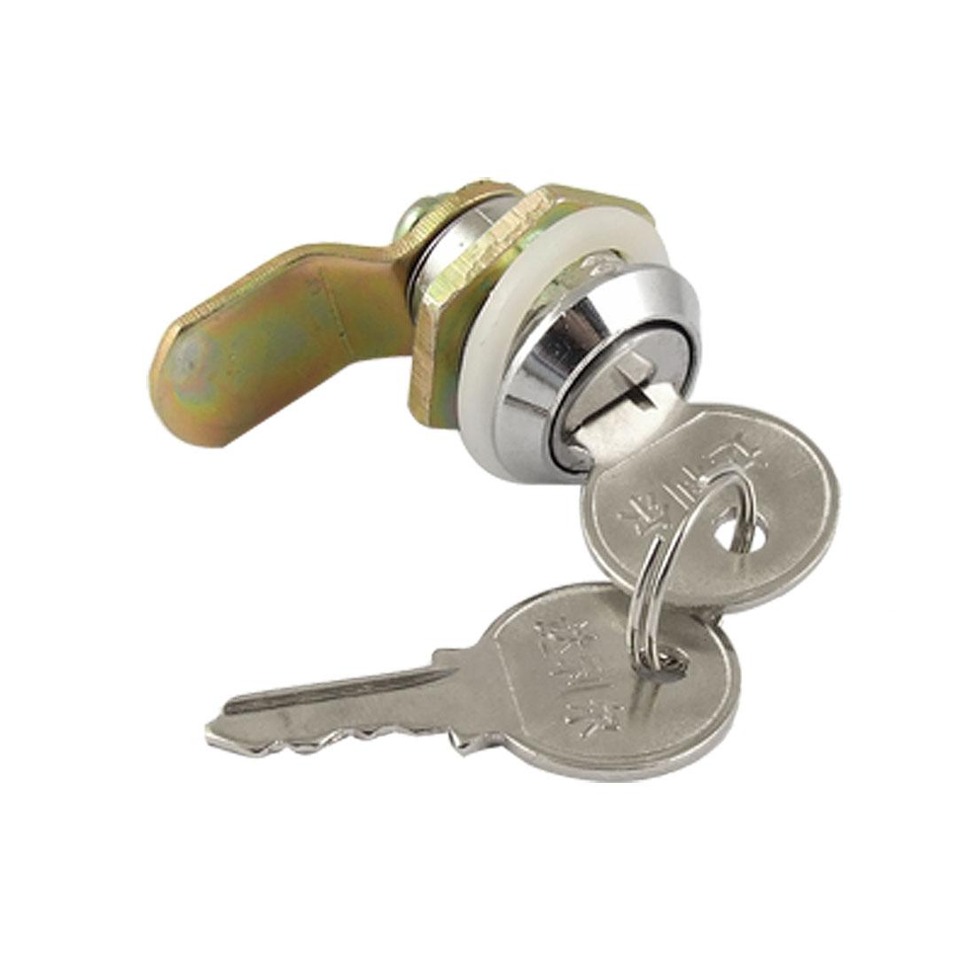 Mailbox Cabinet Door Metal Single Point Security Cam Lock w 2 Keys