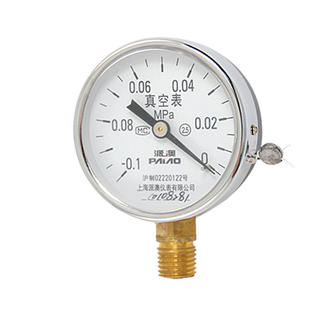 Pneumatic -0.1MPa to 0MPa Ranged 60mm Dia Case Air Pressure Test Gauge