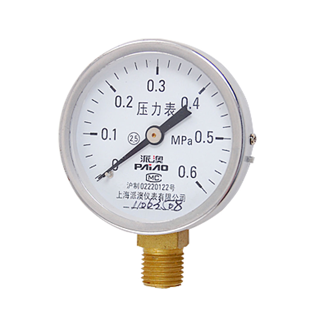 Pneumatic System Y-60 Series Air Pressure Test Gauge 0-0.6MPa