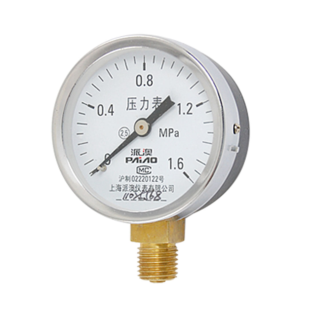 60mm Diameter Case Class 2.5 Accuracy Air Pressure Gauge 0-1.6MPa