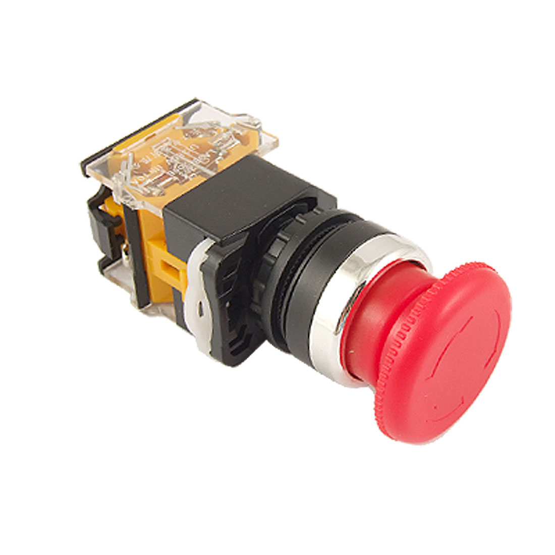 Red Sign Mushroom Push Button Emergency Stop Switch Twist Release 22mm 1 NO 1 NC