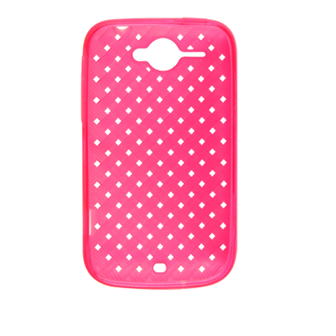 Pink Woven Pattern Square Holes Soft Plastic Case for HTC Wildfire G8