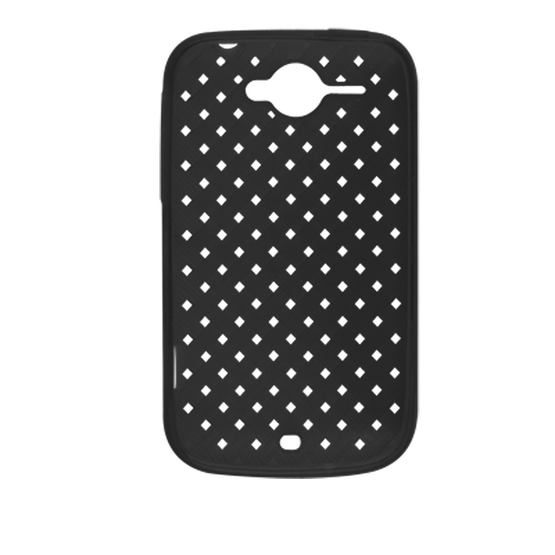 Black Rough Woven Pattern Cover Shield for HTC Wildfire G8