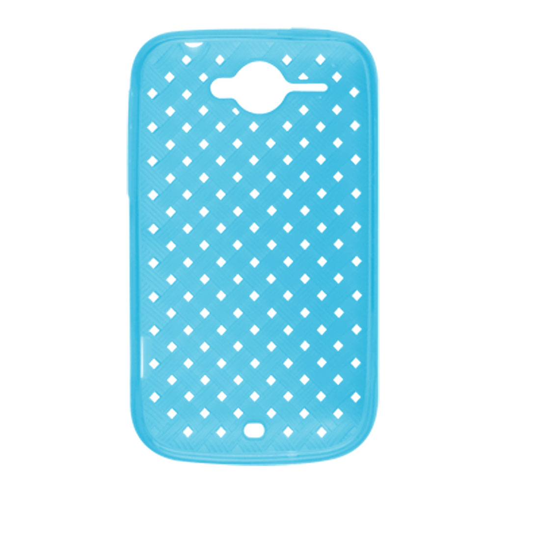 Square Holes Woven Pattern Rough Cover Blue for HTC Wildfire G8