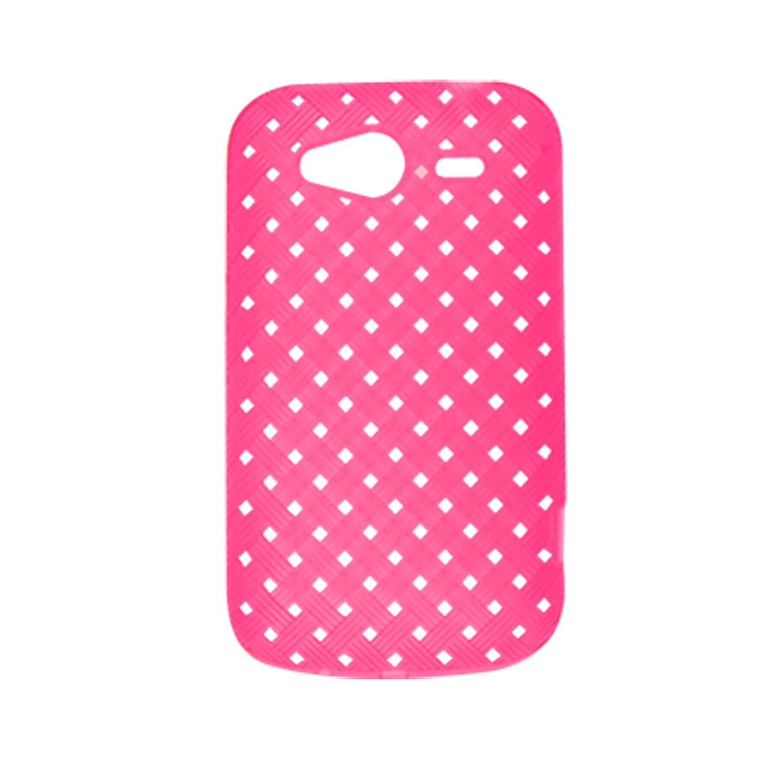 Shocking Pink Perforated Rough Shell Cover Case for HTC G8S Wildfire S G13