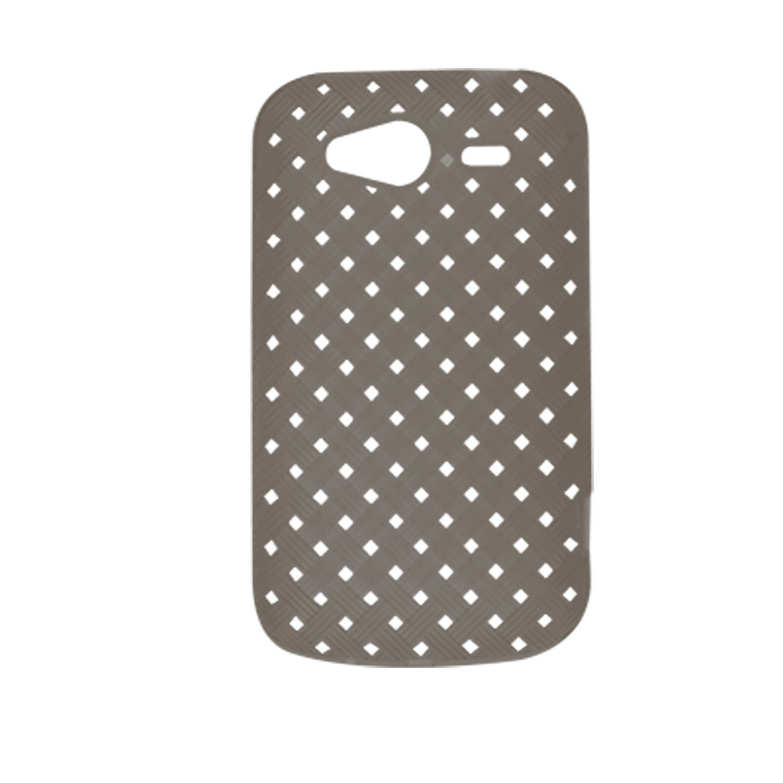 Dark Gray Mini Holes Woven Pattern Soft Plastic Shell for HTC Wildfire S G13 G8s