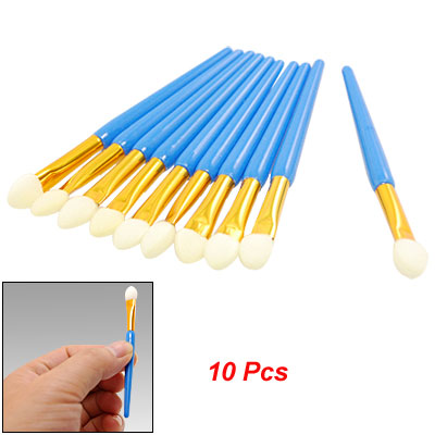 10 Pcs Eye Makeup Eyeshadow White Sponge Brushes Cosmetic Tool