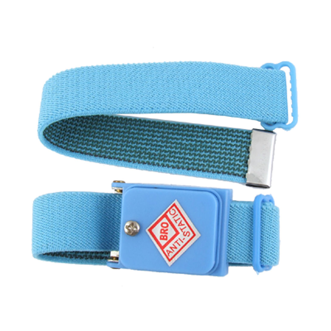 Cordless Anti Static Wrist Strap Elastic Wristband Skyblue 2 in 1 Set