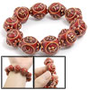 Unisex Chinese Safe Words Wooden Beads Prayer Bracelet