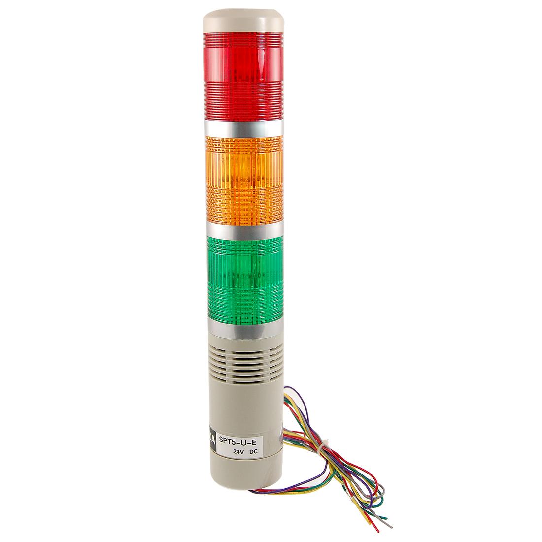 DC 24V Industrial Tower Signal Safety LTE Alarm Light Buzzer w Bracket