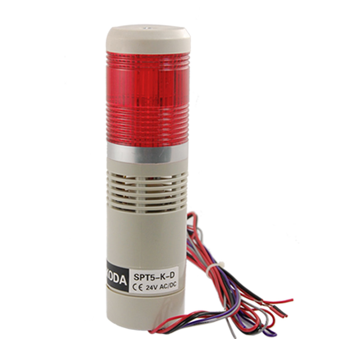 Industrial Signal Saftey Light Red Flashing Alarm Lamp Buzzer AC/DC 24V 90dB