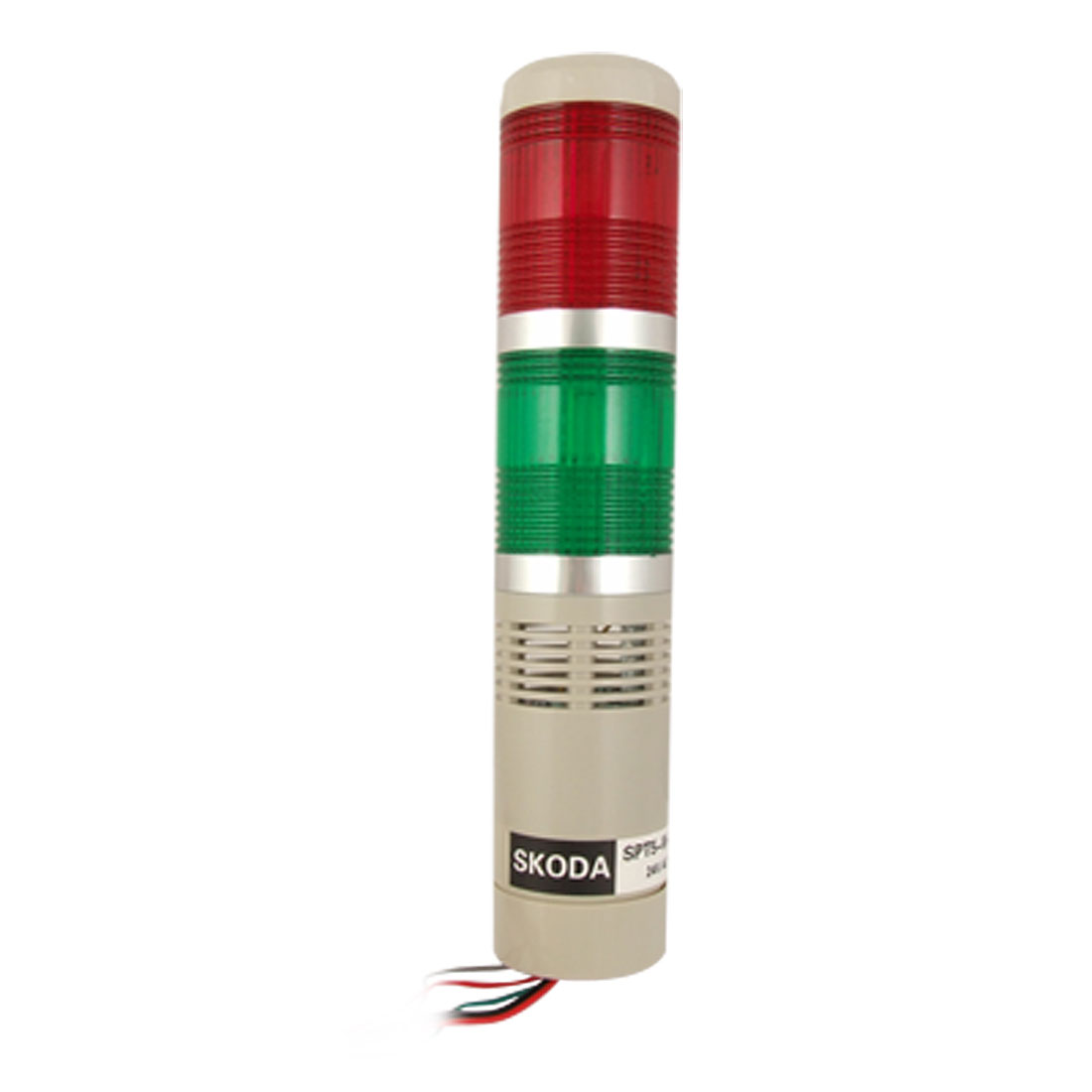 Red Green R/G Flash LED Industrial Stack Tower Signal Alarm Light 90dB DC24V