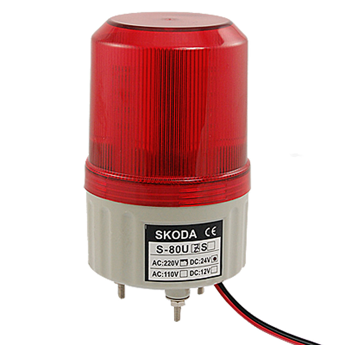 DC 24V Traffic Industrial Strobe Red LED Signal Tower Warning Light