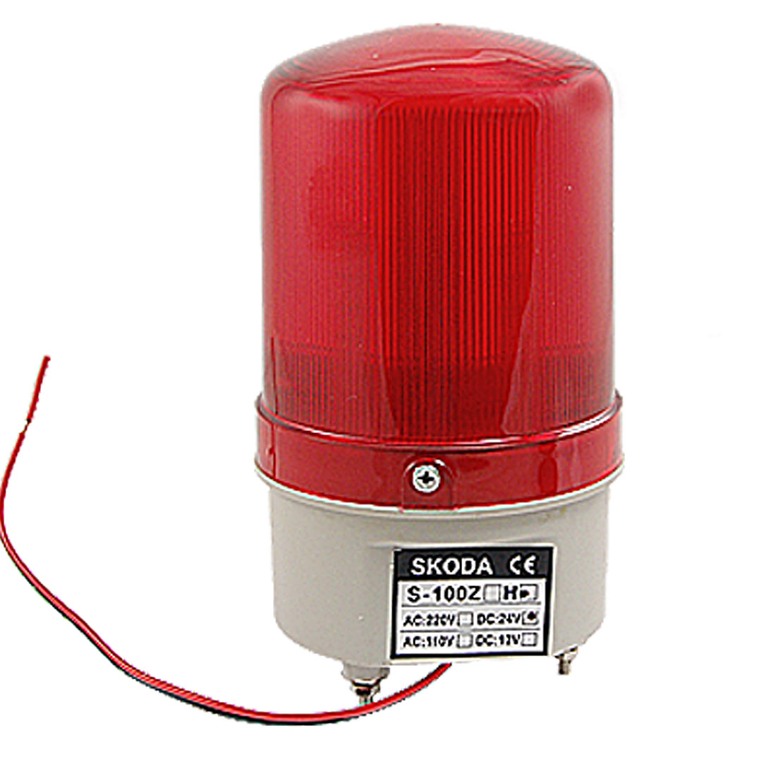 90dB DC 24V Industrial Red LED Tower Signal Buzzer Sound Alarm Warning Light