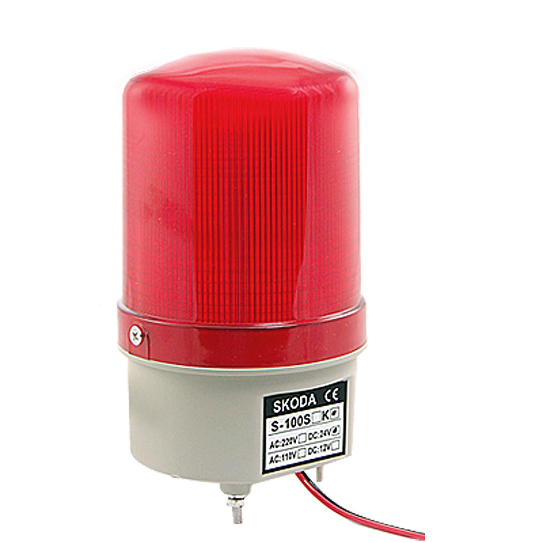 DC 24V Red Flash LED Industrial Signal Buzzer Sound Alarm Light 90dB