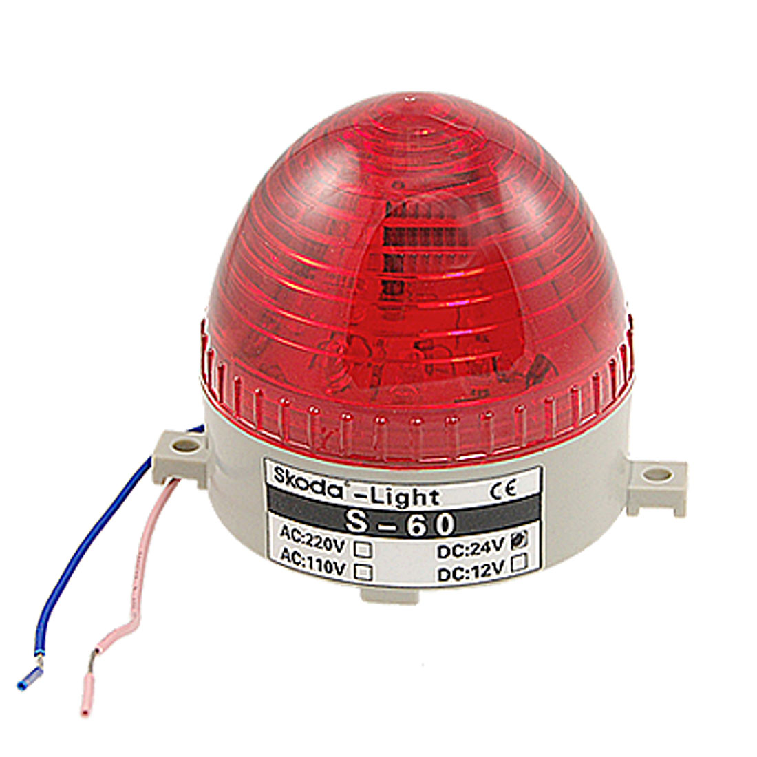 DC 24V Wired Flashing Red LED Light Industrial Warning Alarm Signal Lamp