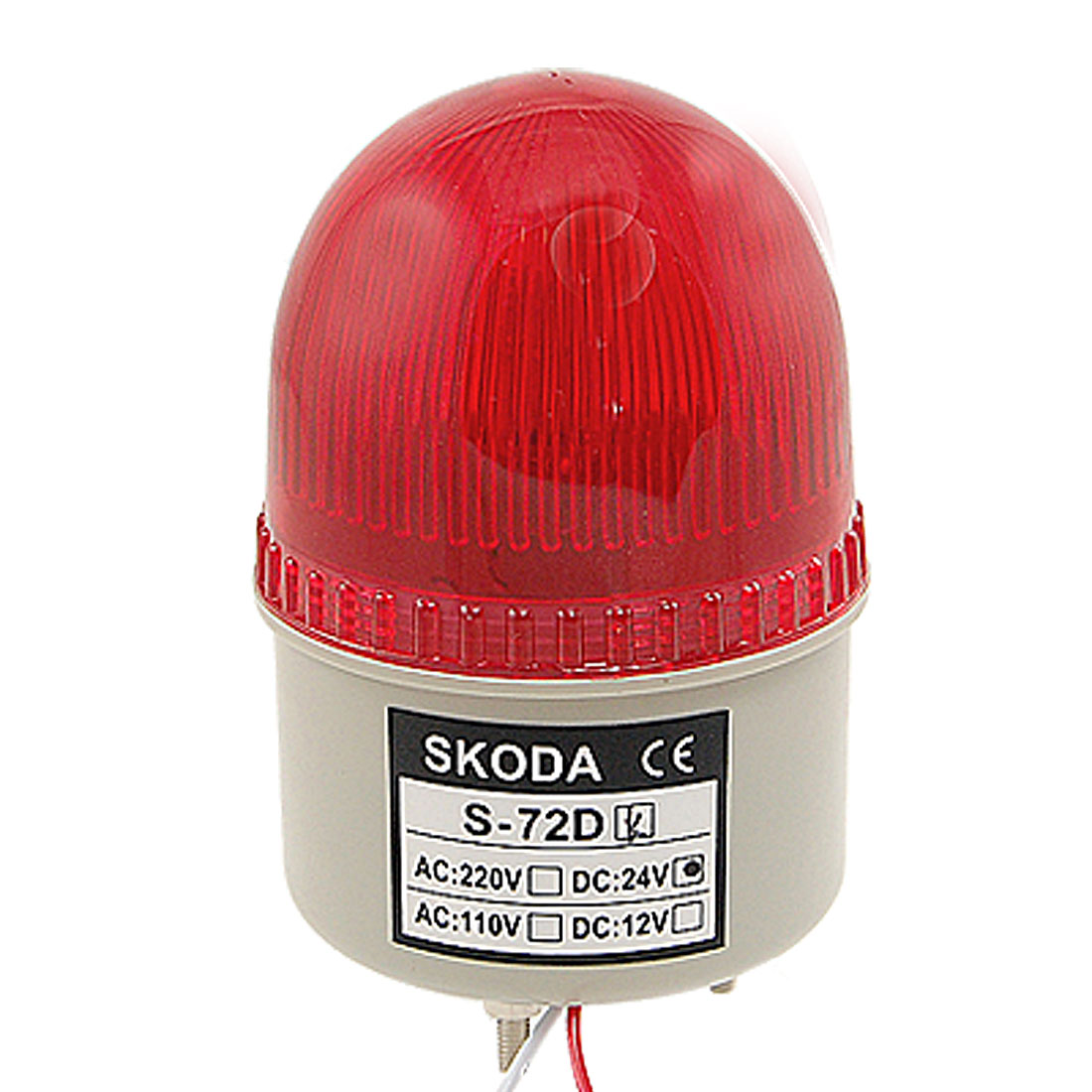 DC 24V Red LED Light Alarm Buzzer Industrial Safety Signal Lamp 90dB