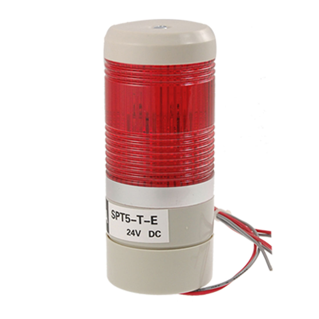 DC 24V Red LED Light Industrial Signal Tower Safety Alarm Lamp w Bracket
