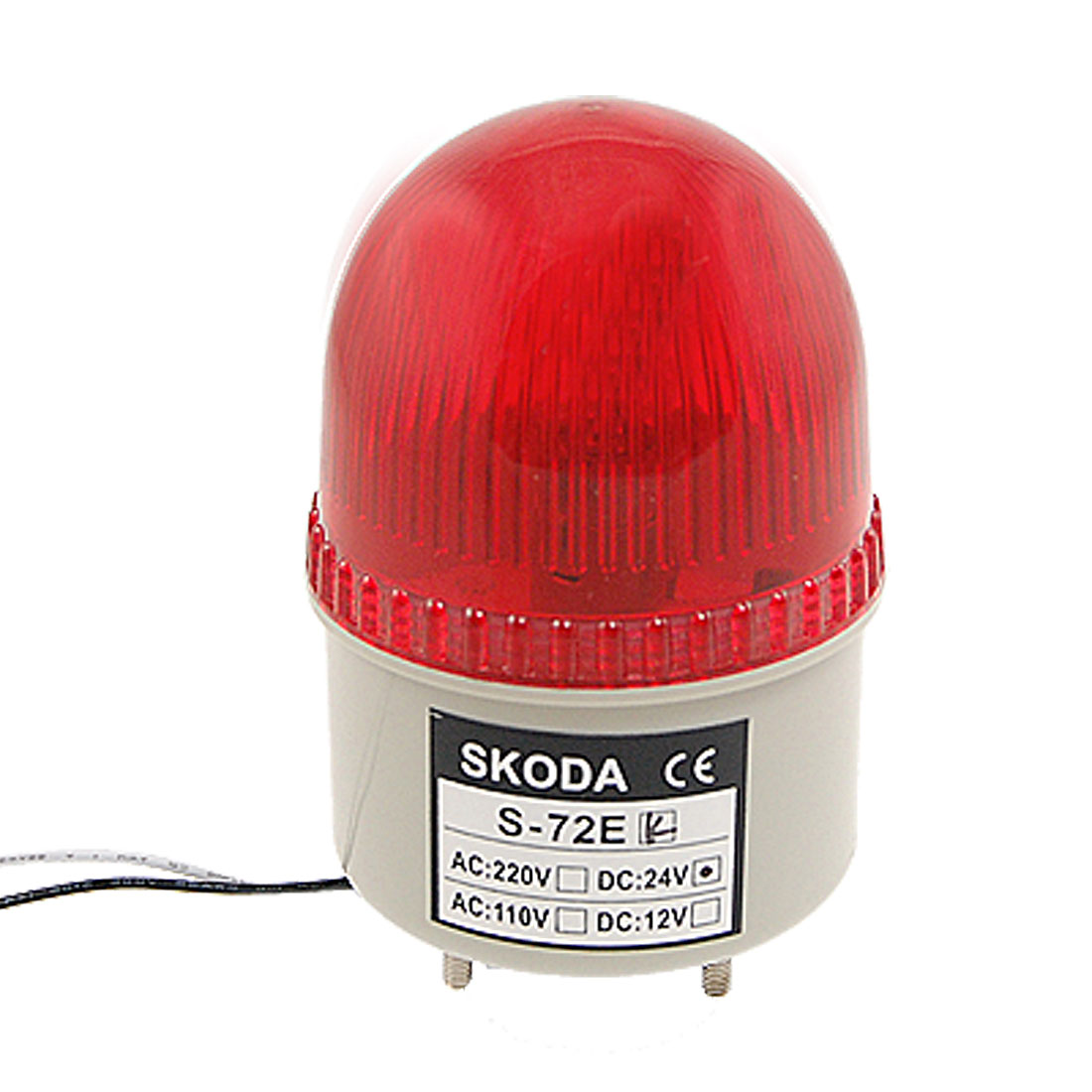 DC 24V Red Alarm Buzzer Industrial Safety Tower Signal Light 90dB