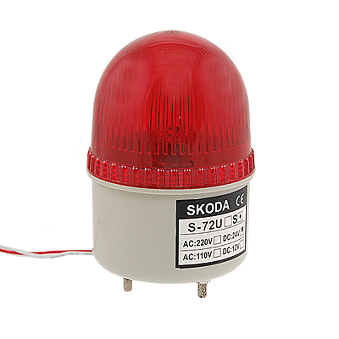 Red Light Industrial Signal Tower Warning Lamp DC 24V