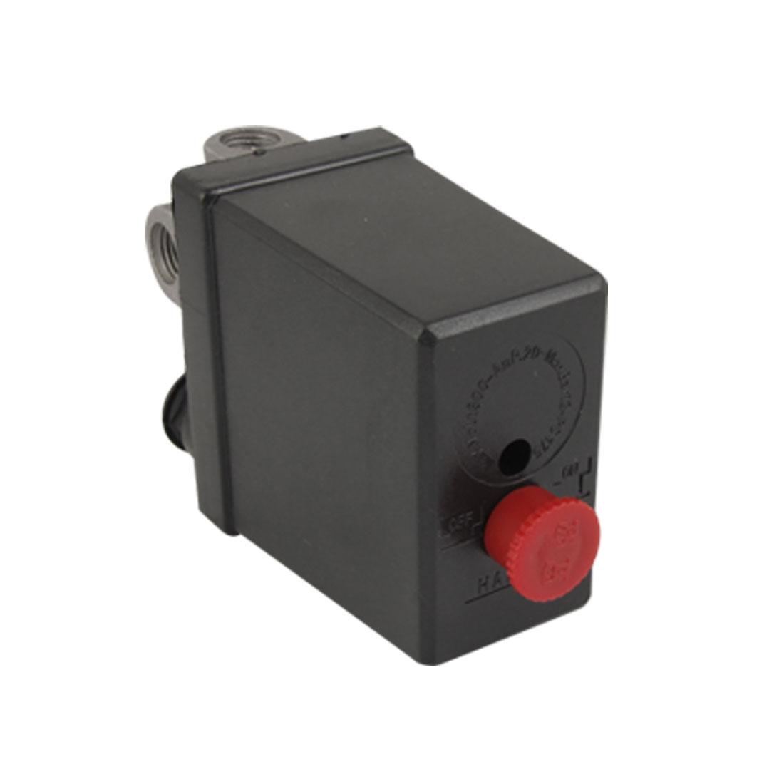 NC 4 Ports Air Compressor Pressure Switch Control Valve 175 PSI AC 240V 20A