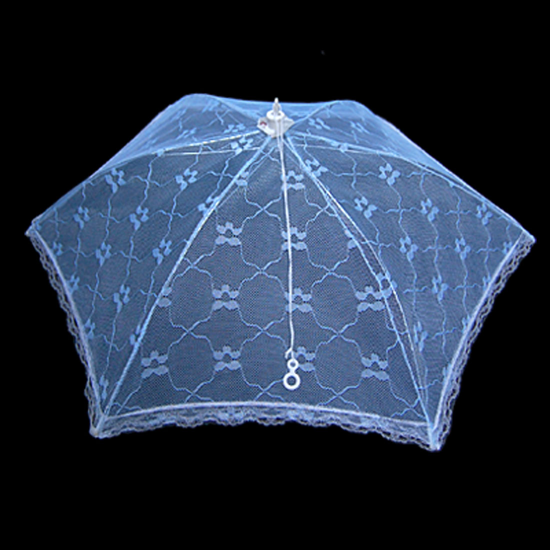 Foldable Umbrella Style Baby Blue Lace Metal Table Food Cover