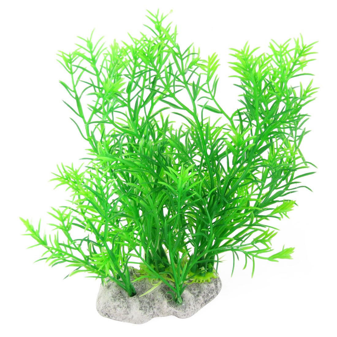 Oval Base Plastic Green Aquascaping Plants for Fish Tank