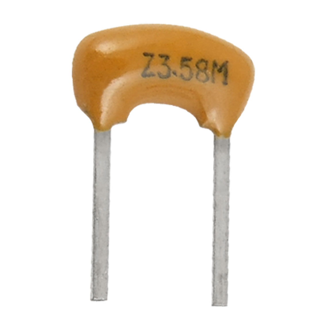 100 Pcs 3.58 MHz 5mm Pitch 2 Terminals Ceramic Filters