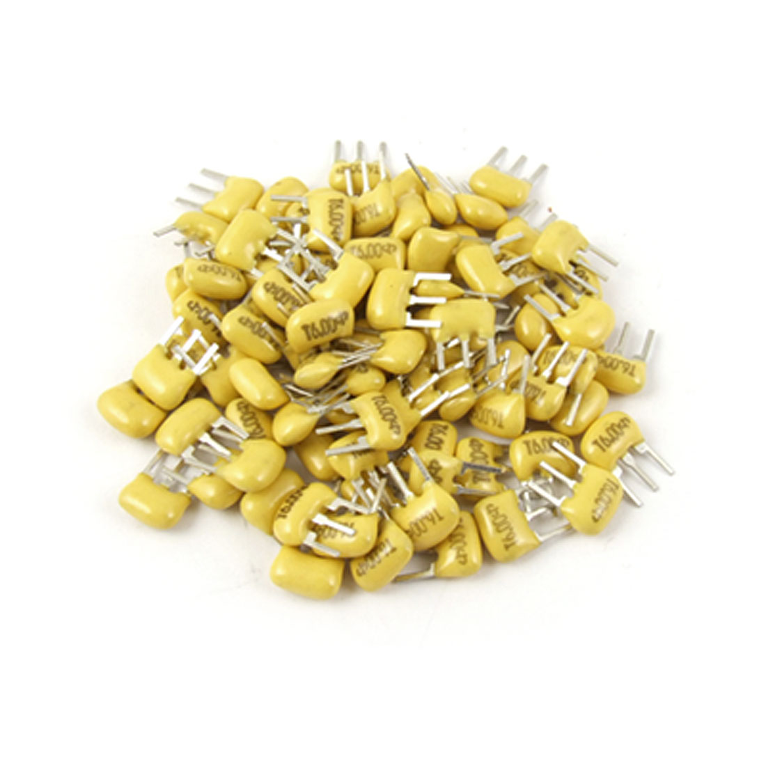 100 Pcs 6 MHz 2.5mm Pitch 3 Pins Ceramic Filters Yellow