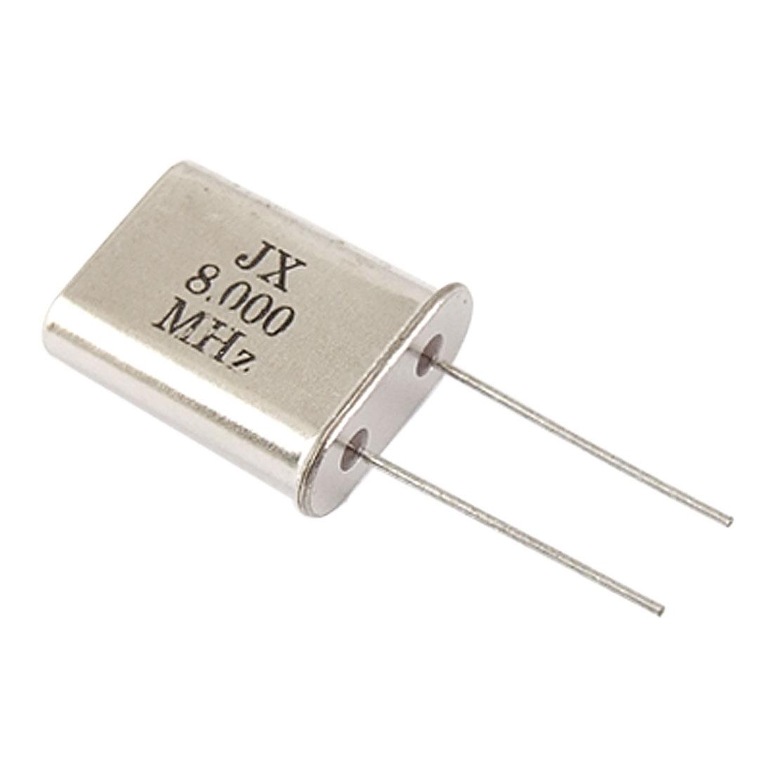 100 Pcs 8MHz 8.000MHz DIP Cyrstal Oscillators HC-49/U