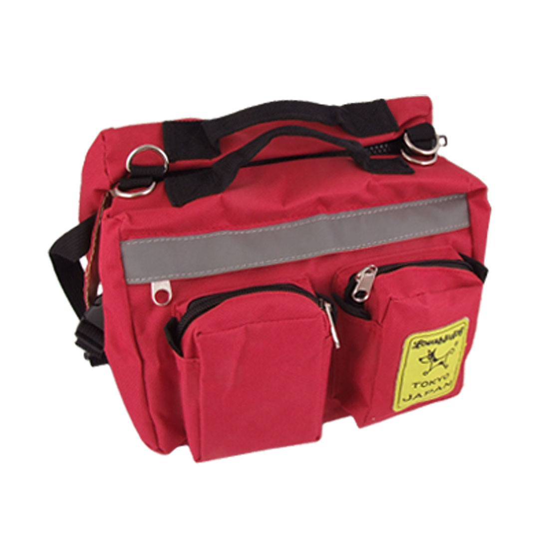 Red Casual Pet Puppy Dog Carrier Traveling Carrying Bag Backpack Saddle Bag