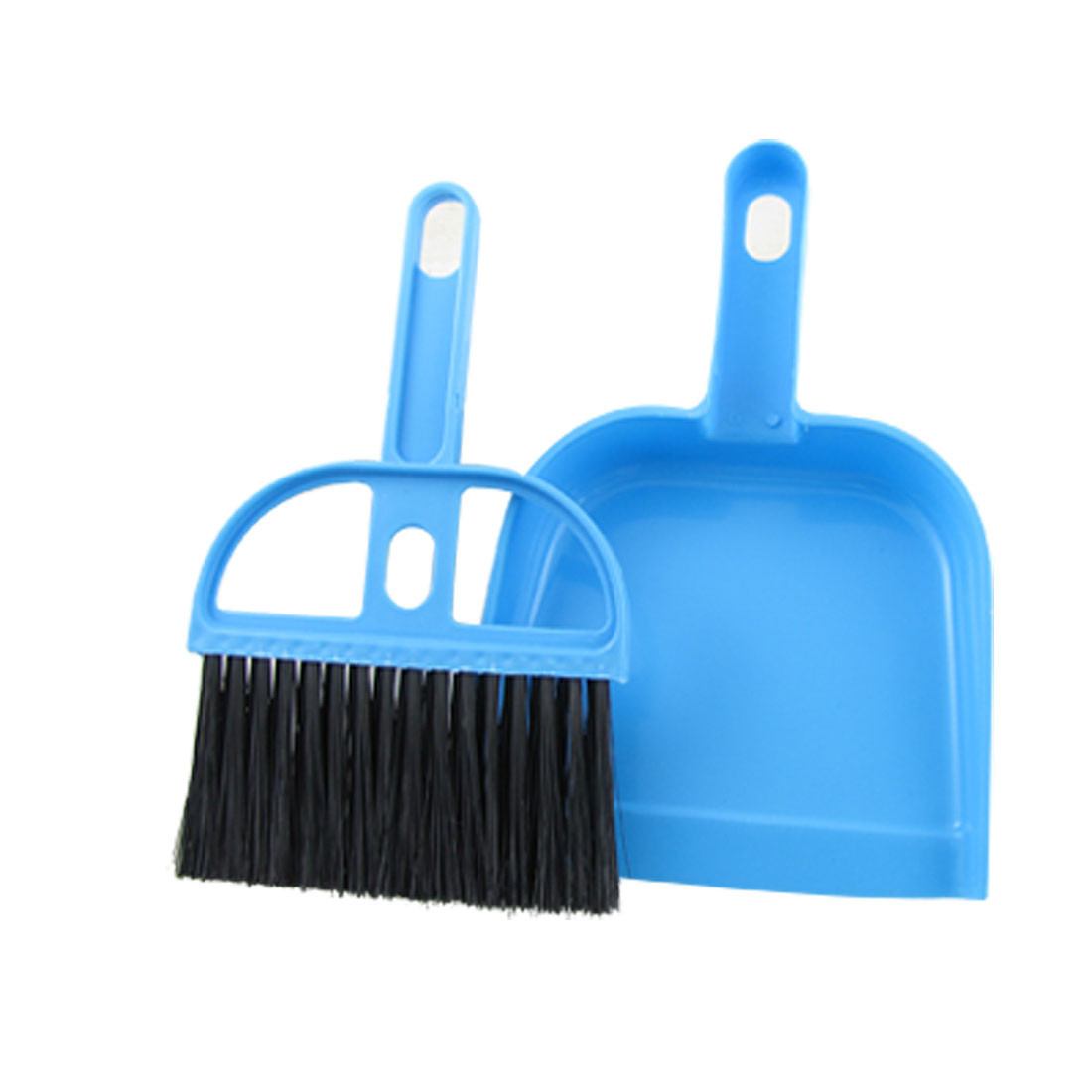 Office Home Car Cleaning Mini Whisk Broom Dustpan Set Black Blue