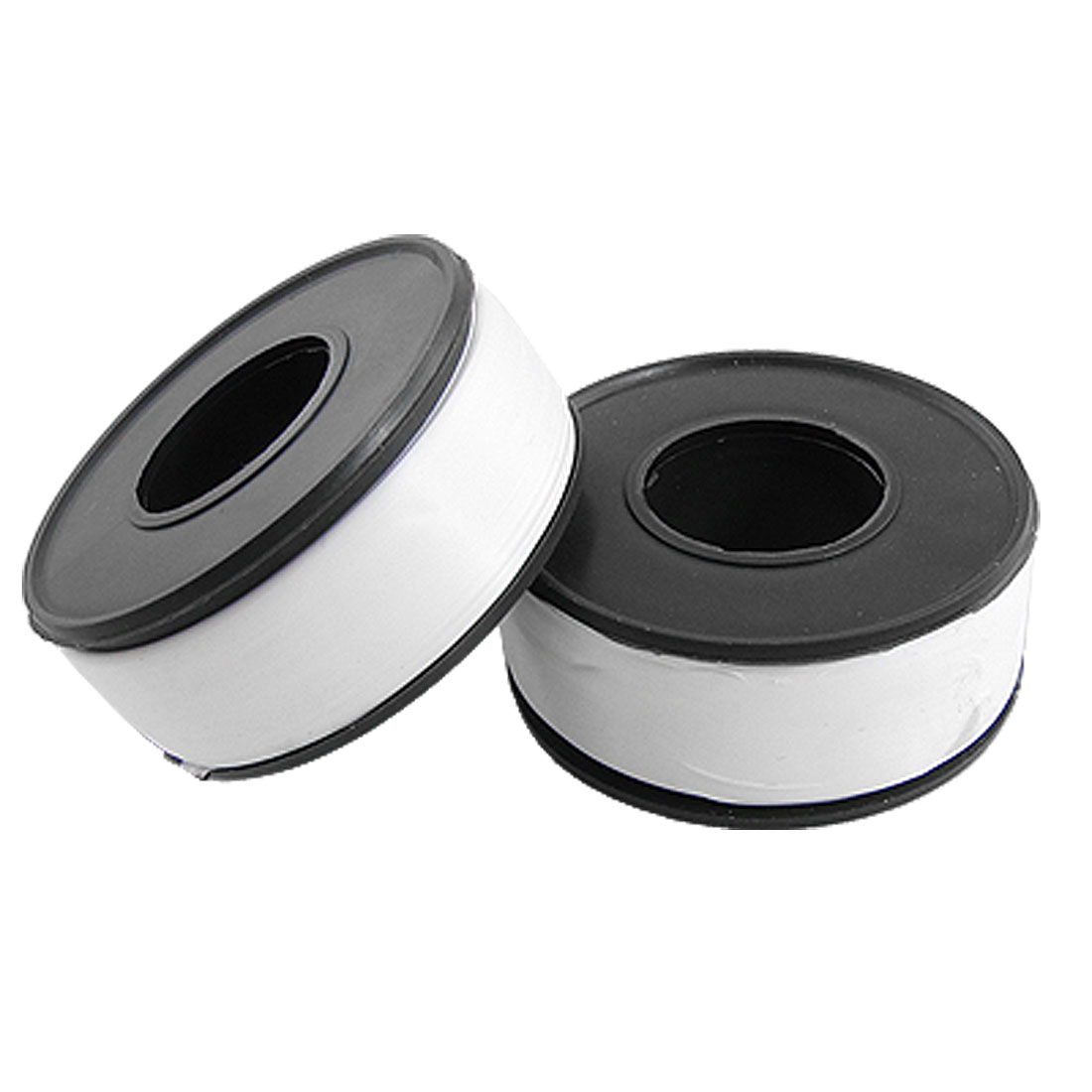 White 1.5cm Width Threaded Joints Sealing PTFE Water Tapes 2 Pcs