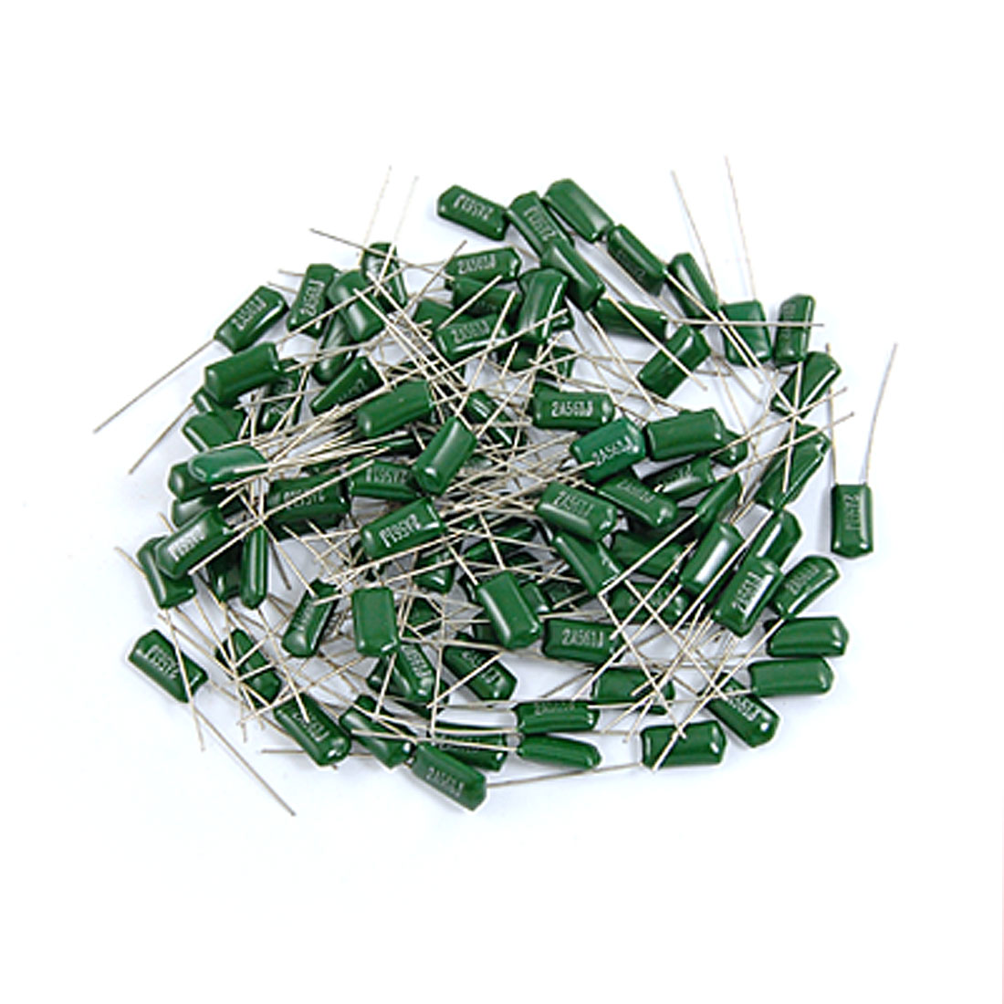 100 Pcs 2200pF 0.0022uF 100V 5% Mylar Polyester Film Capacitors