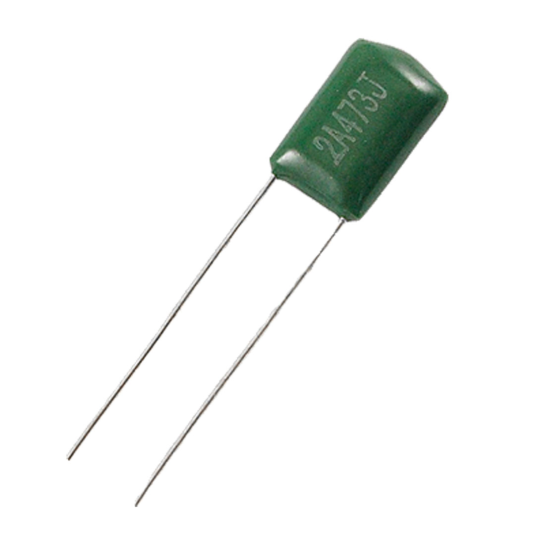 100 Pcs 2A473J 47000pF Mylar Polyester Film Capacitors