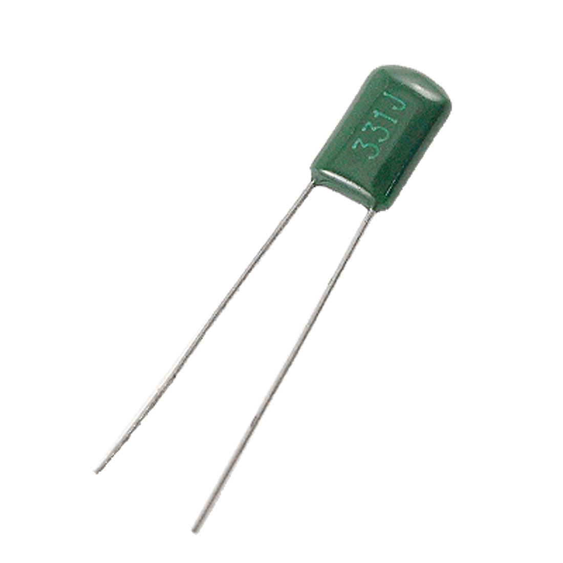 100 Pcs 330pF 100V 5% Mylar Polyester Film Capacitors