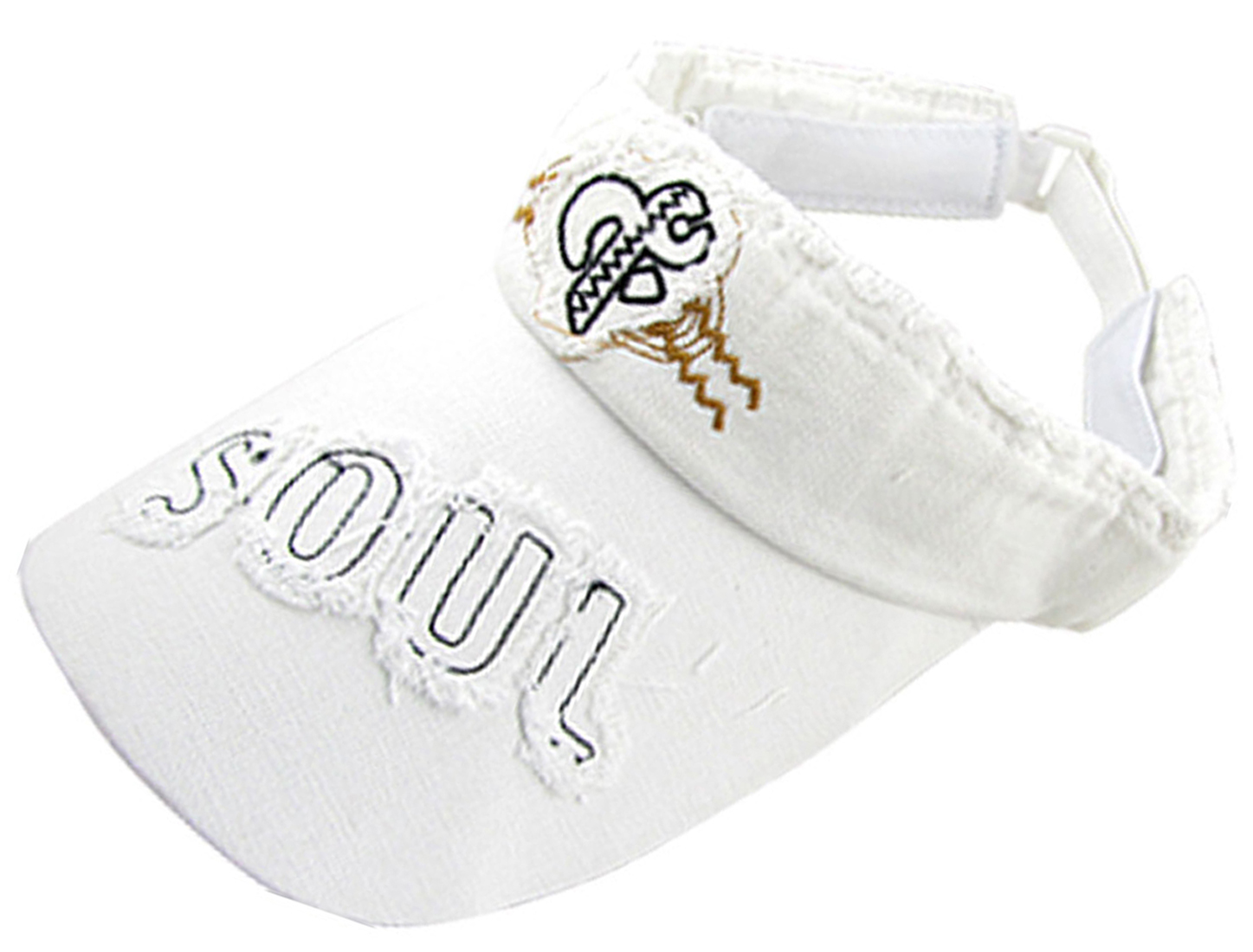 Ladies Tennis Golf Adjustable Head Band White Sun Visor Cap Hat