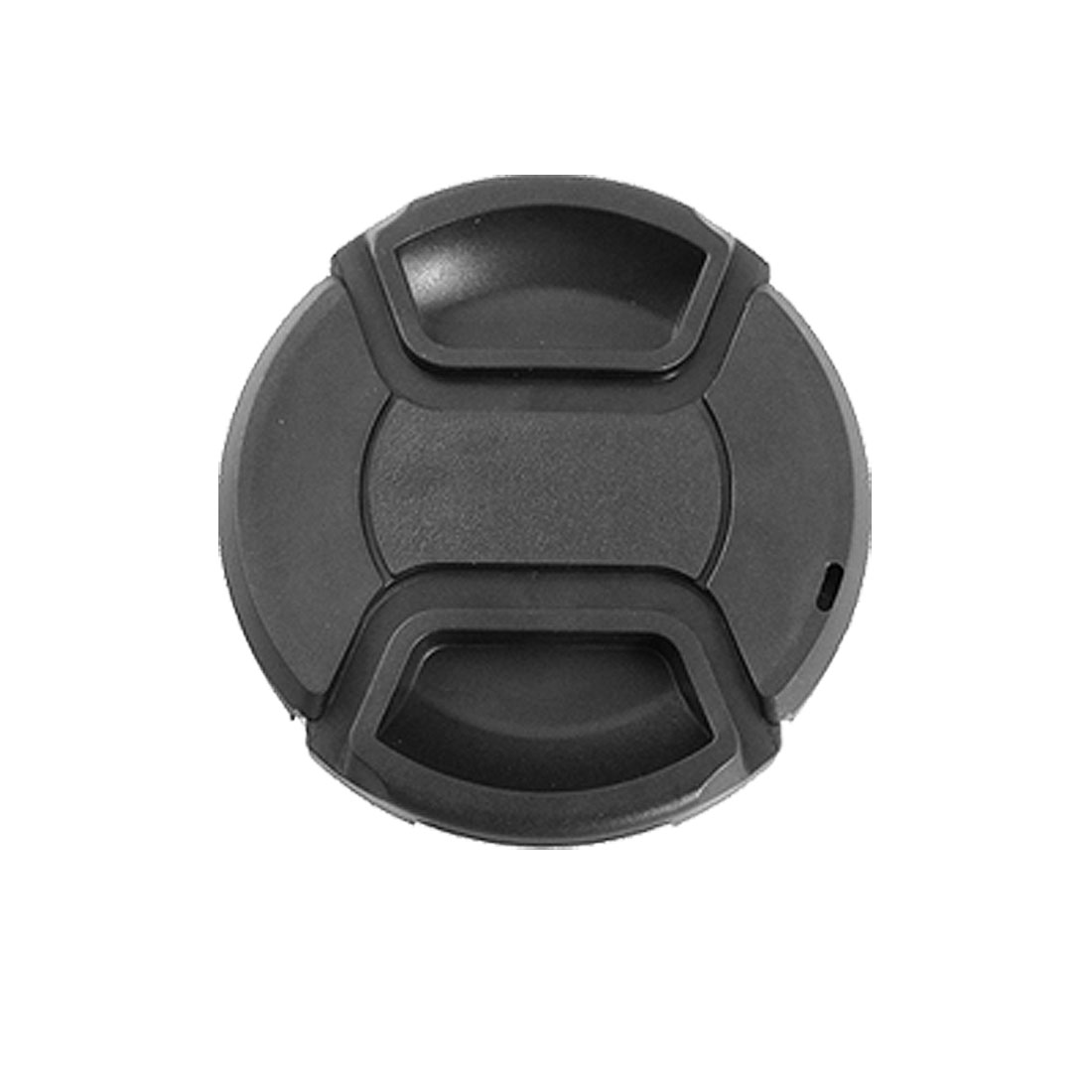 Black 62mm Center Pinch Design Front Lens Cap Cover