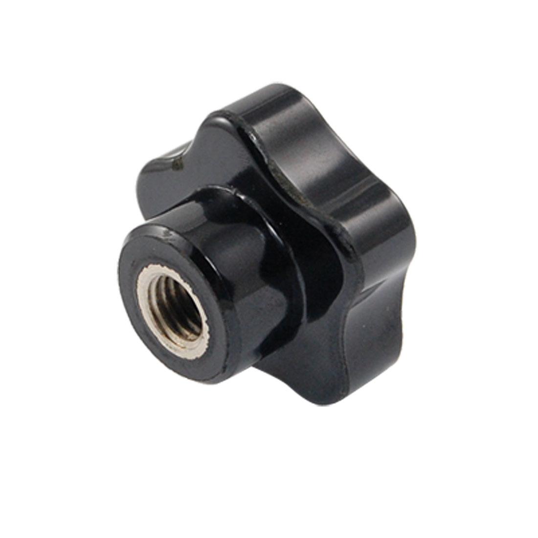 10mm Female Thread Diameter Black Grip Knob Replacement