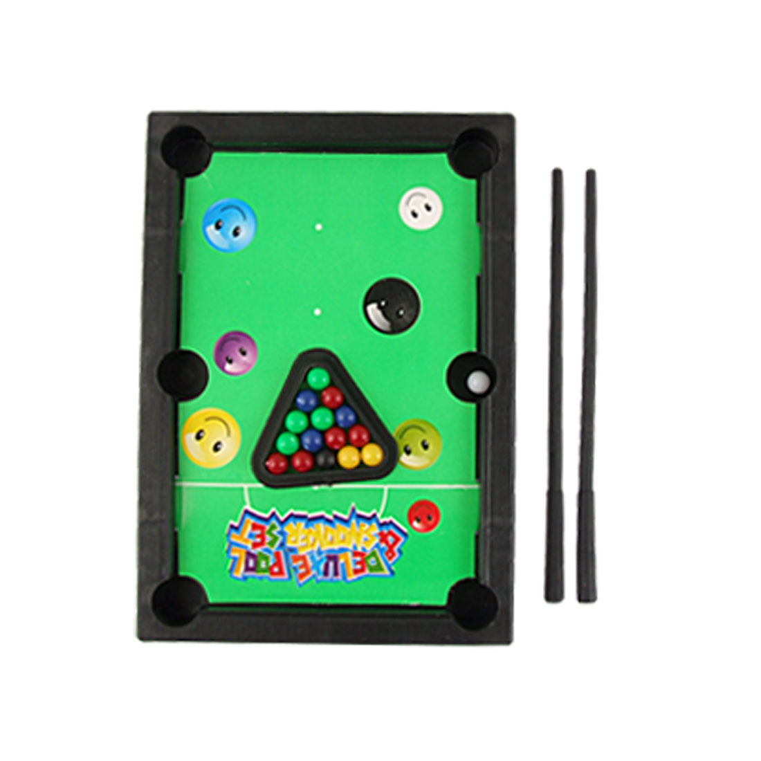Children Shot in Cue Sports Black Plastic Table Mini Billiards Toy Set