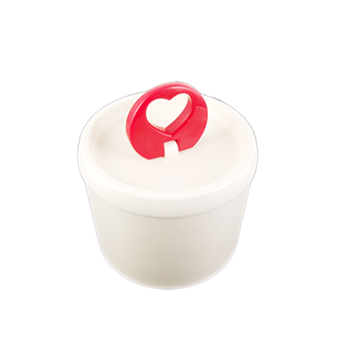 White Plastic Cylinder Shaped Airtight Canister Storage Box Sealed Pot