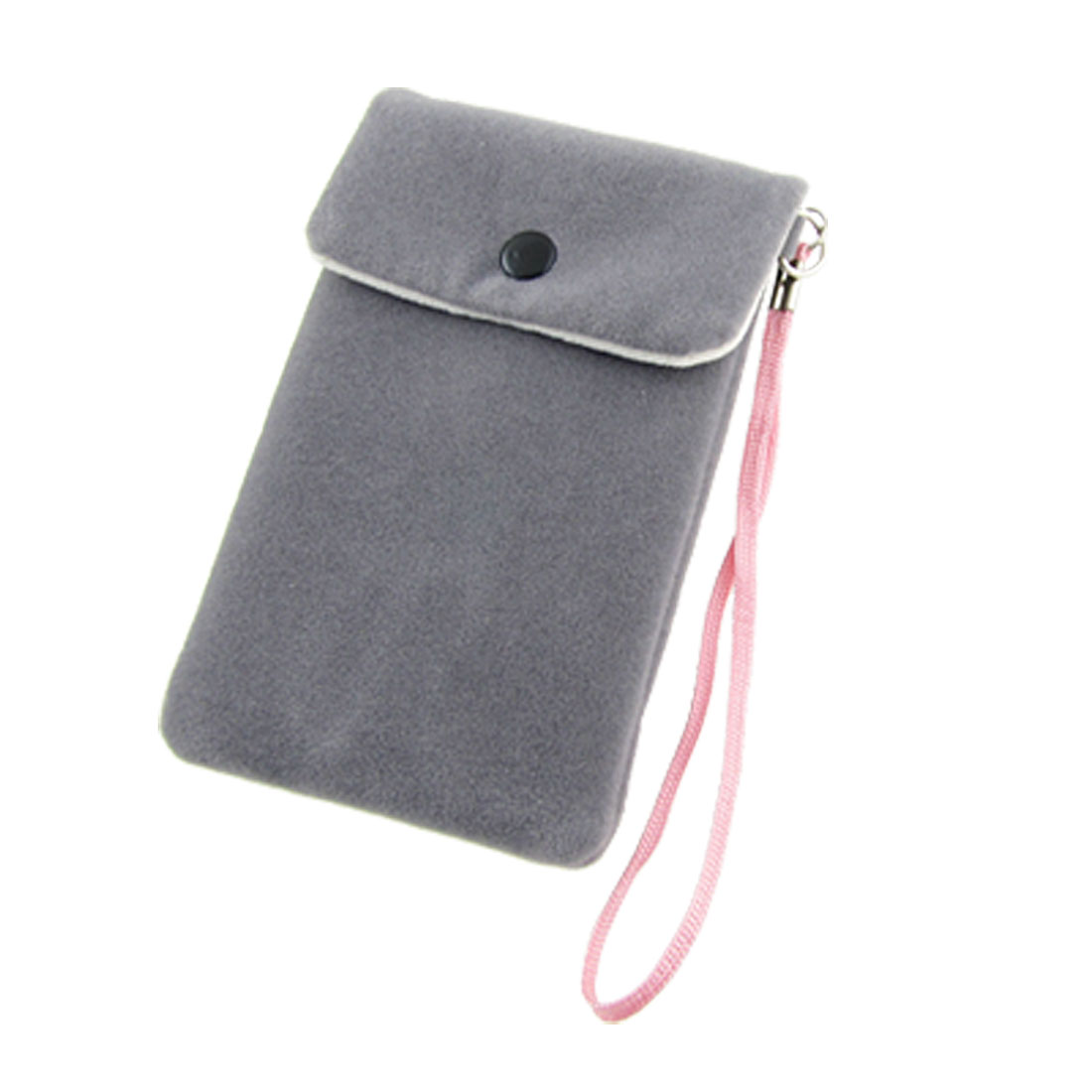 Soft Flannel Flap Pouch Gray Bag for iPhone 4 4G