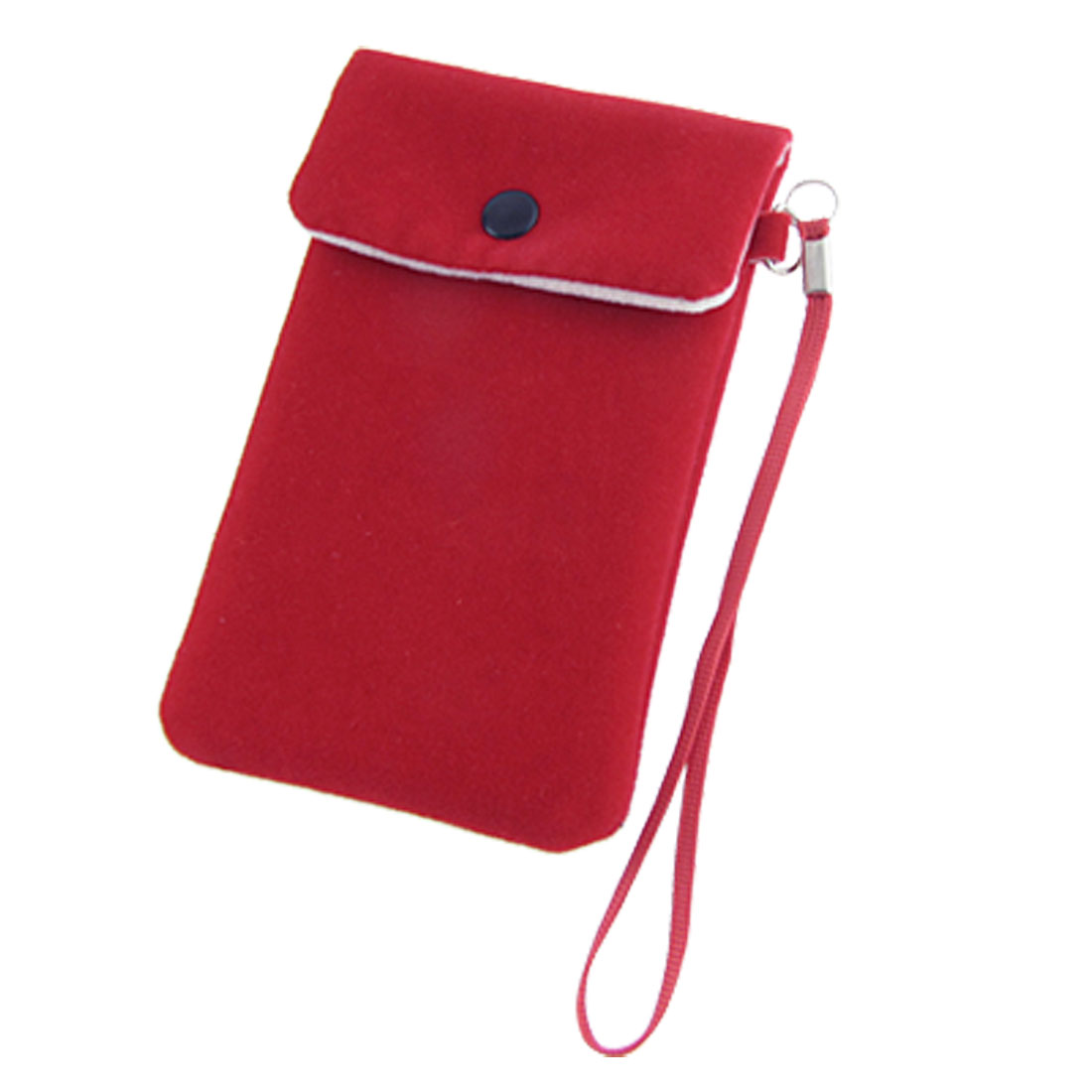 Flap Pouch Red Soft Flannel Bag Holder for iPhone 4 4G